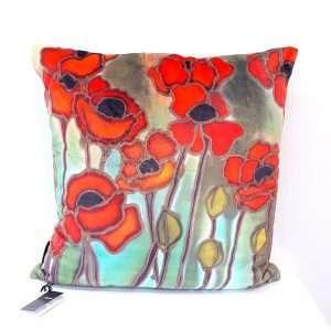 Poppie design cushion