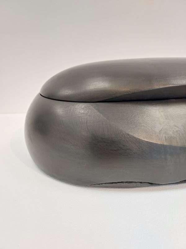 Detail of ebonised ash box