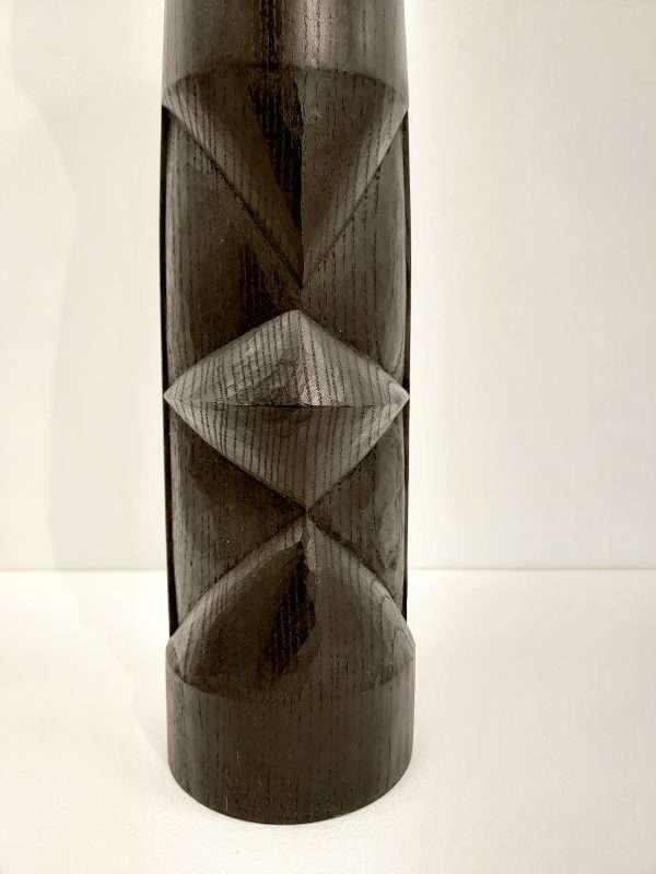 Detail of ebonised ash sculpture
